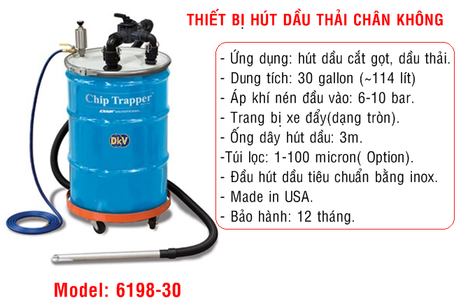 thiet bi hut dau thai,30 gallon, exair, usa