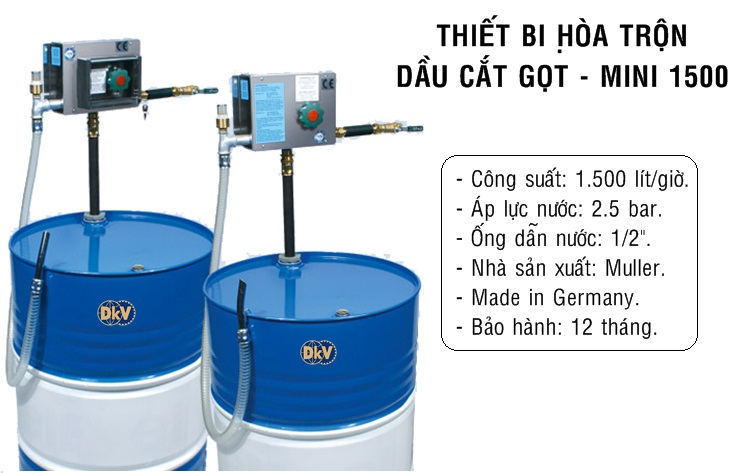 thiet bi hoa tron dau cat got, mini 1500, muller